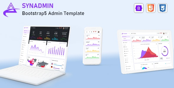 Synadmin – HTML+Bootstrap 5 后台管理模板